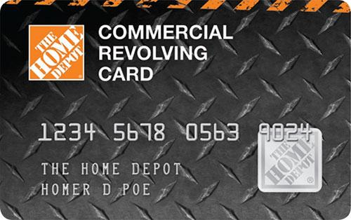 Home Depot Commercial Revolving Card - home improvement credit card