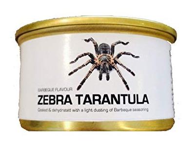 Can of Dehydrated Zebra Tarantula