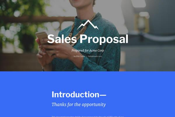Qwilr - Business proposal template