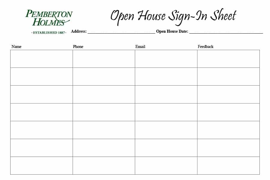 Template Screenshot Of A Table Sign In Sheet