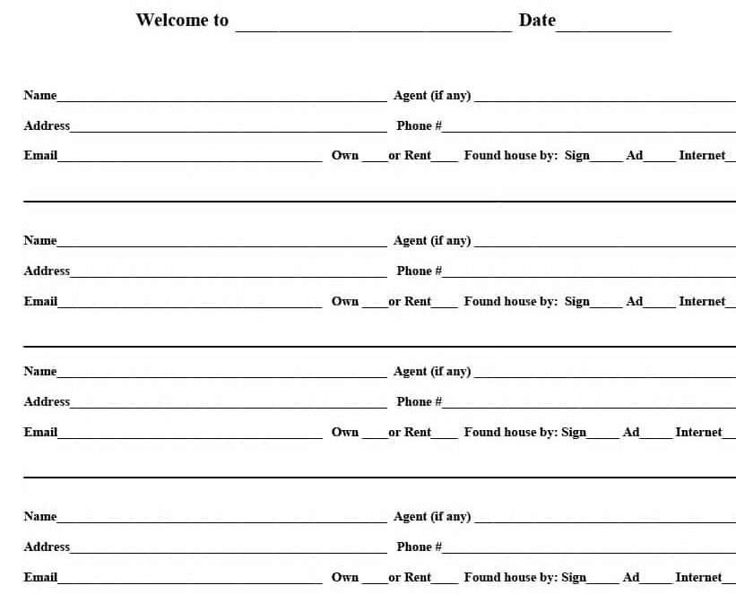 4 Free Real Estate Open House Sign-In Sheet Templates [+ Tips]