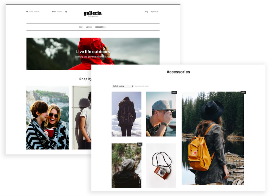 WordPress WooCommerce Theme Example