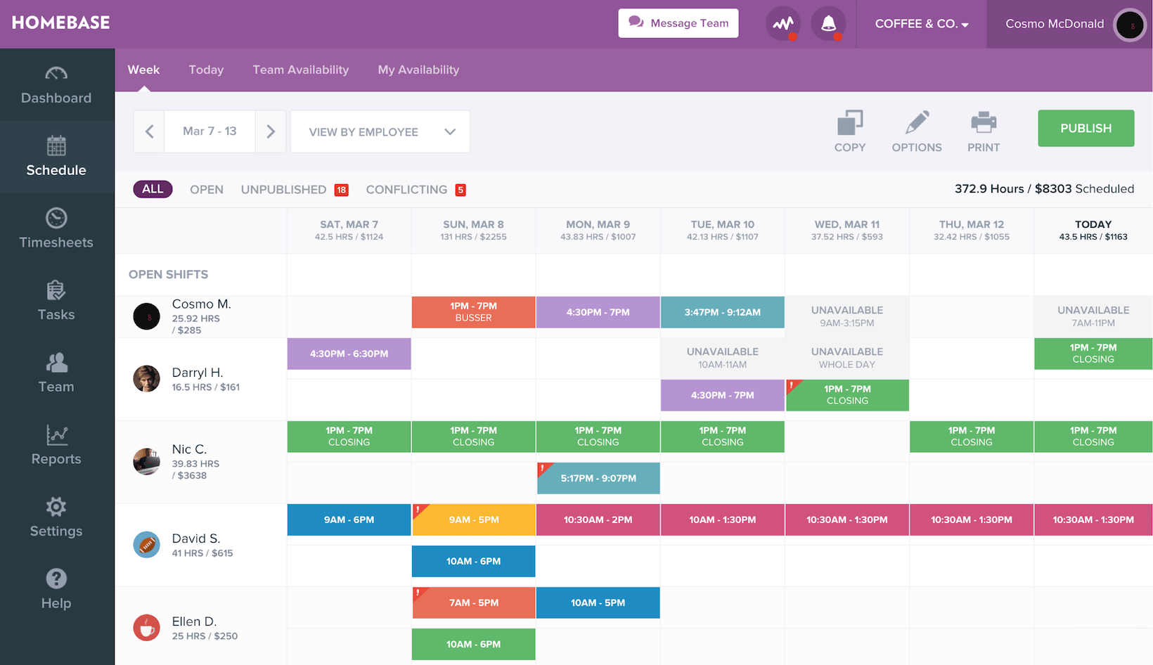 Workforce Management Software- homebase