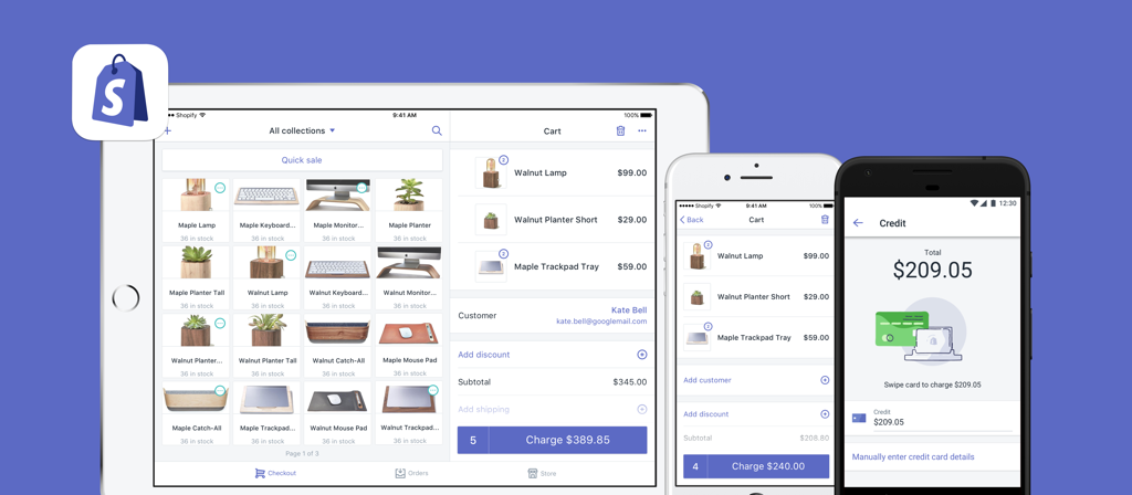 Shopify POS apps for iPad and smartphone