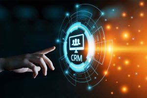 CRM Customer Relationship Management Business Internet Technology Concept
