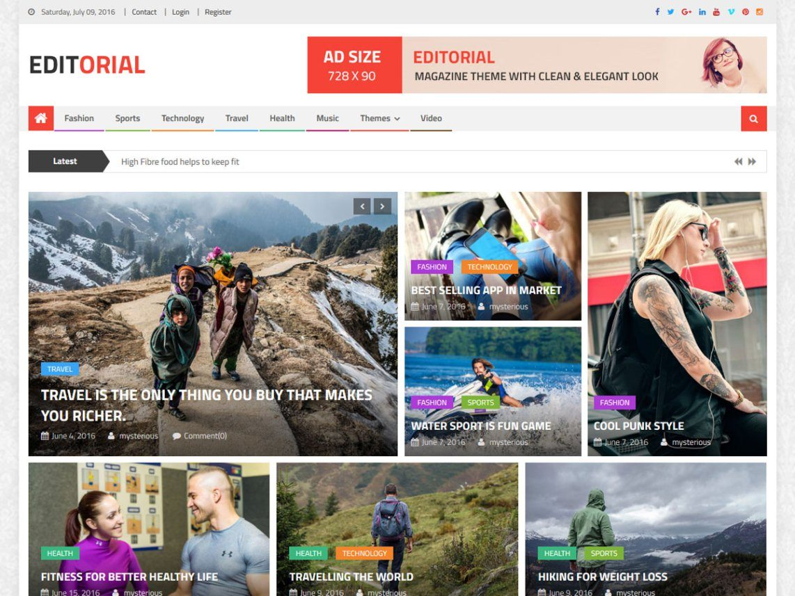 Editorial - wordpress themes for business