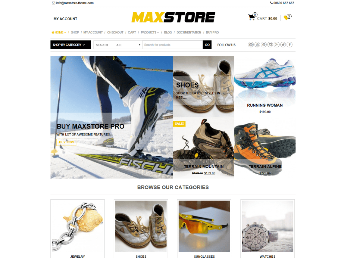 MaxStore - wordpress themes for business
