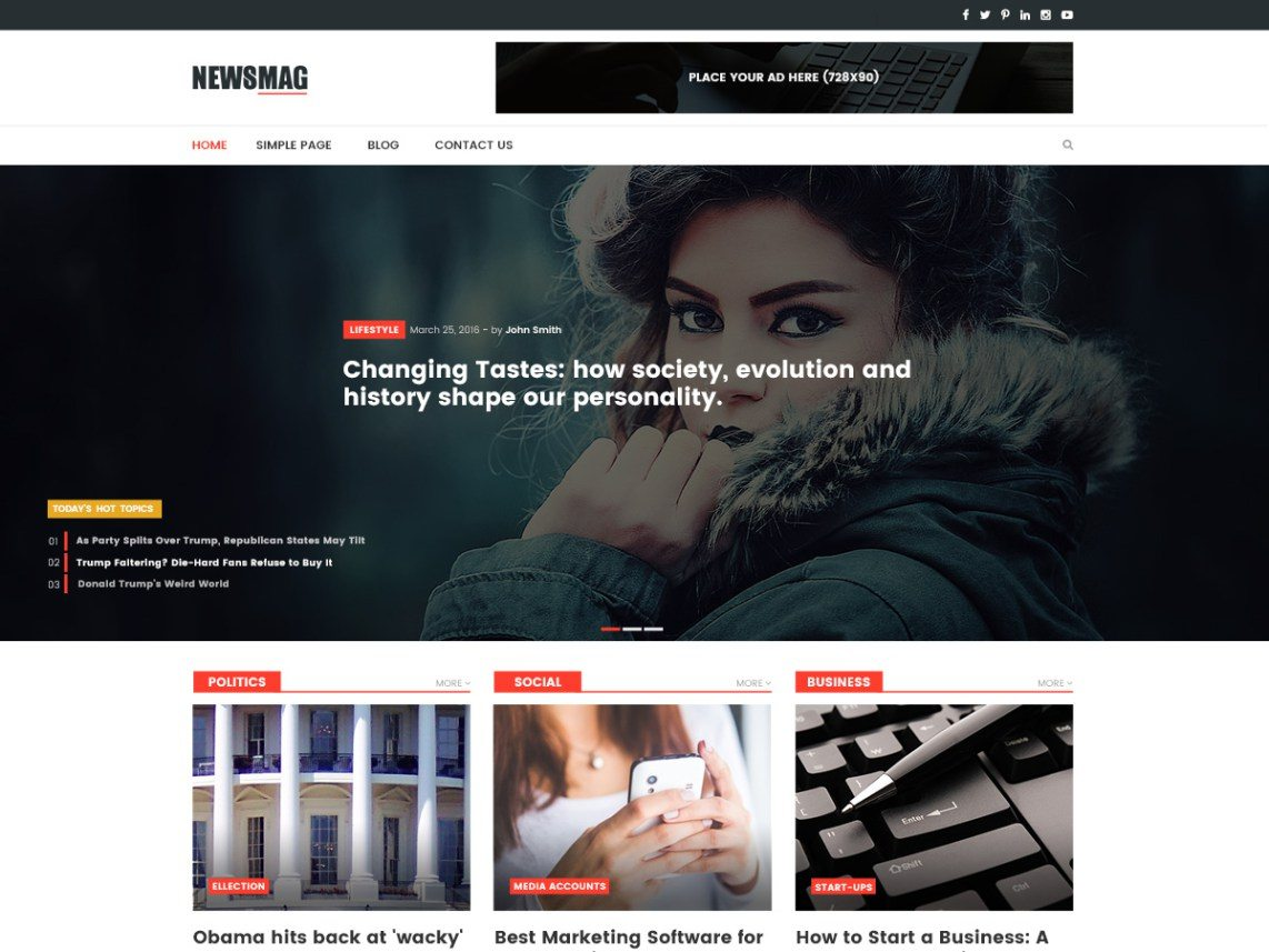 NewsMag Lite - wordpress themes for business