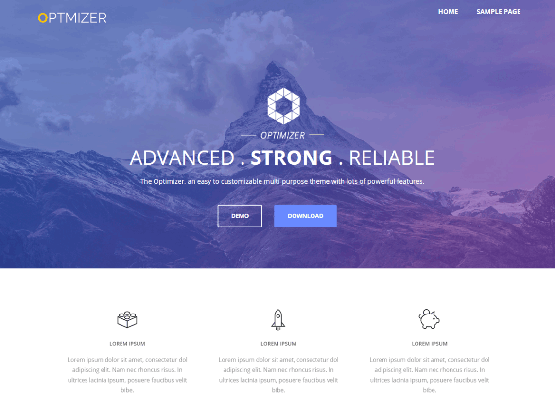 Optimizer - wordpress themes for business