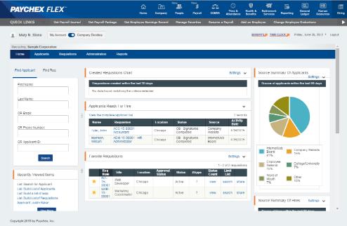 Paychex Flex User Interface