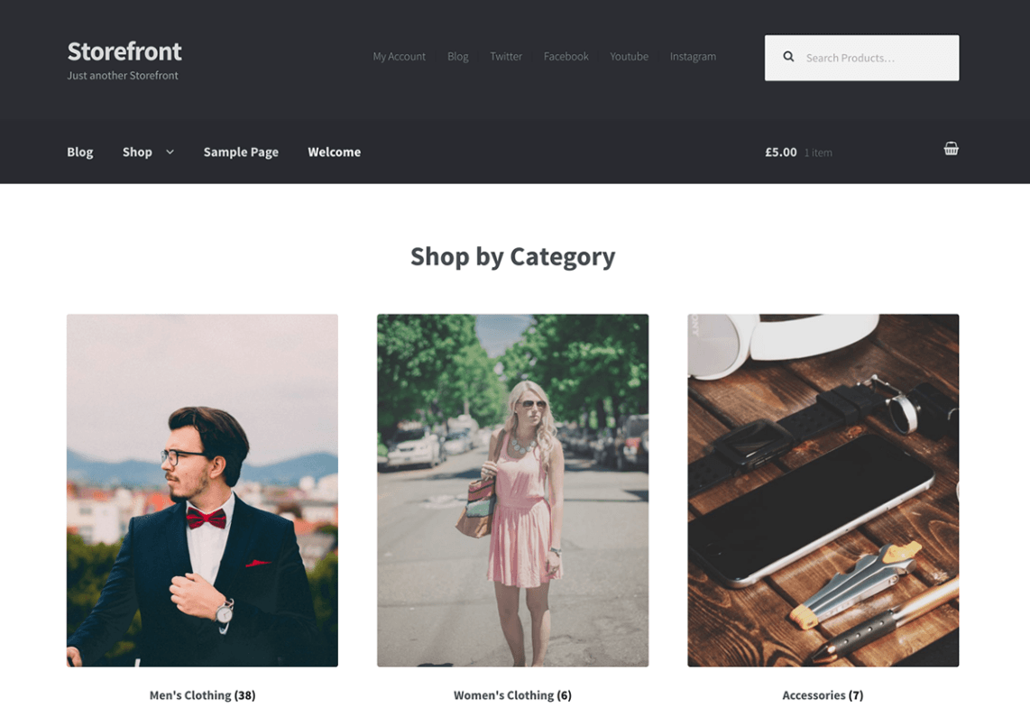 Storefront - wordpress themes for business