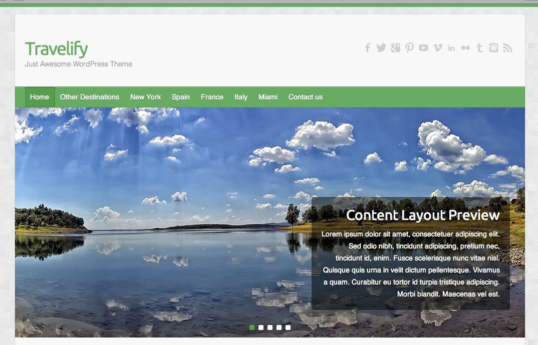 Travelify - wordpress themes for business
