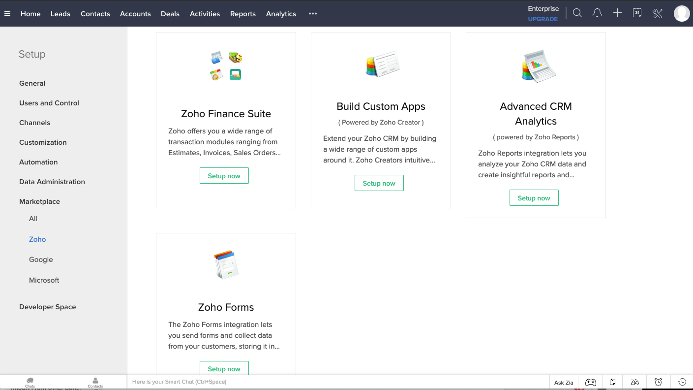 Zoho Software - how to use zoho crm