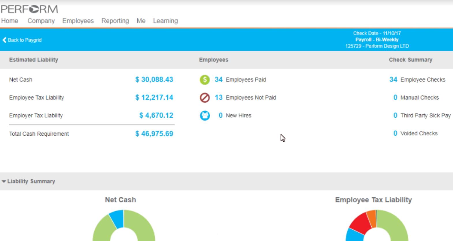 Paycor dashboard