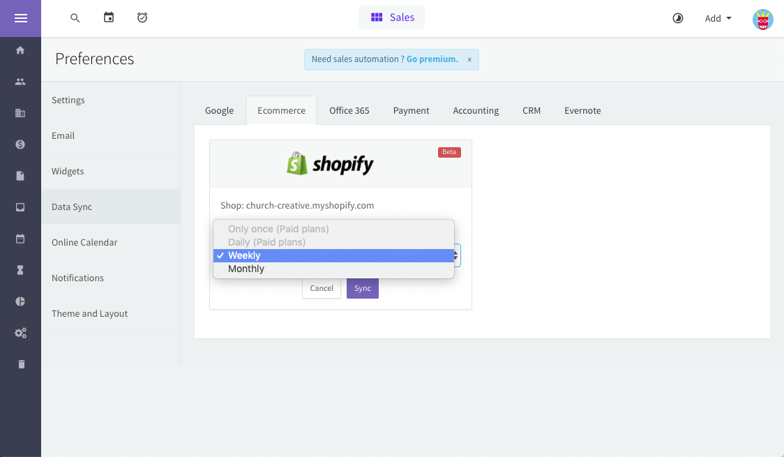 Agile CRM - best crm for shopify