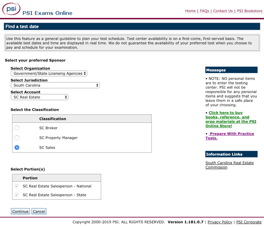 real estate license sc
