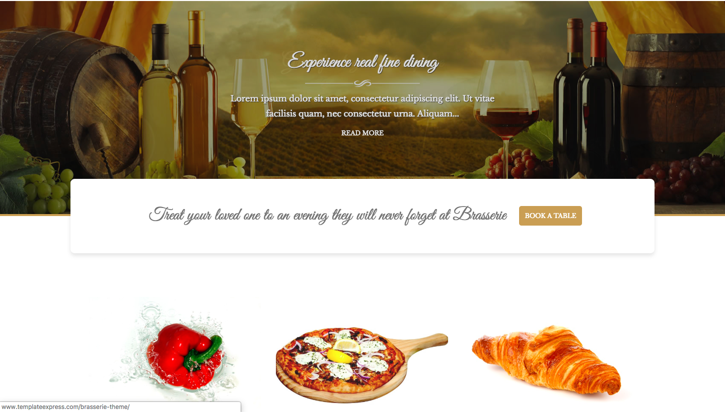 Brasserie - wordpress themes for business