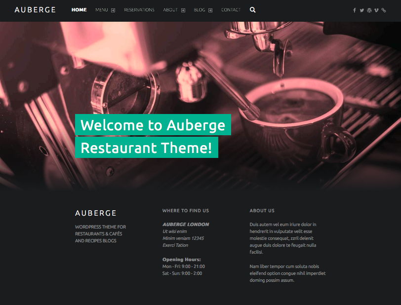 Auberge - wordpress themes for business