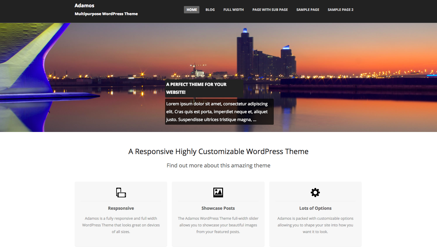 Adamos - wordpress themes for business
