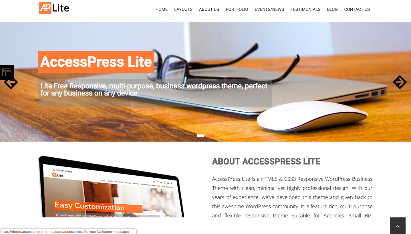 AccessPress Lite - wordpress themes for business