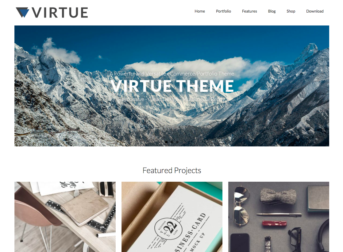 Virtue - wordpress themes for business