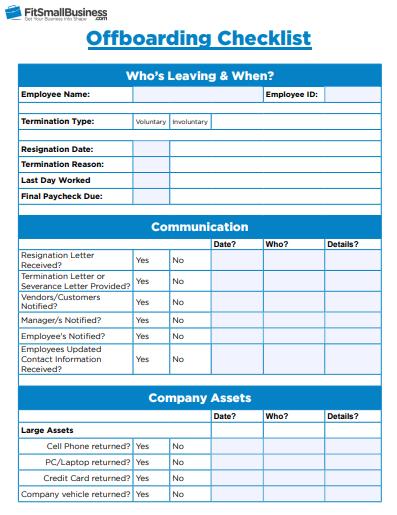 an offboarding checklist image