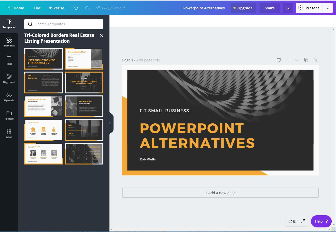 Canva - powerpoint alternatives