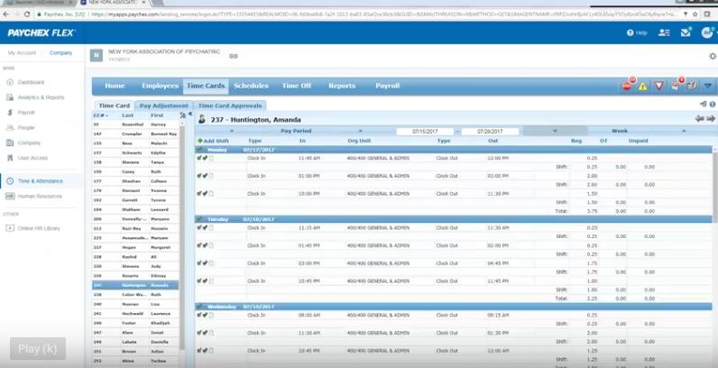 Paychex flex payroll data entry