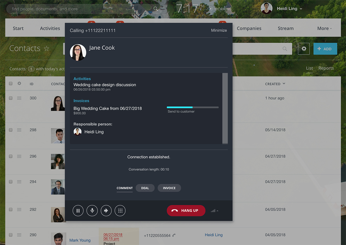 Bitrix24 Video Chat & Call - free crm for real estate