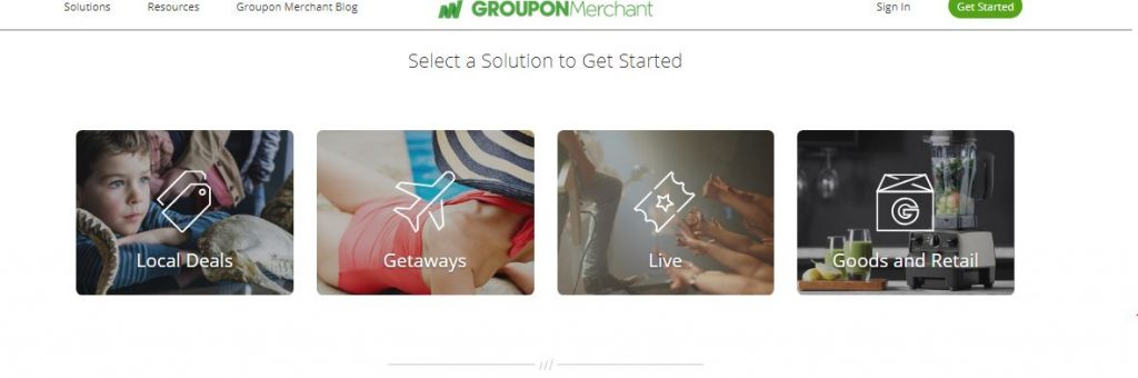 selecting a solution on groupon