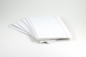 one fourth index cards
