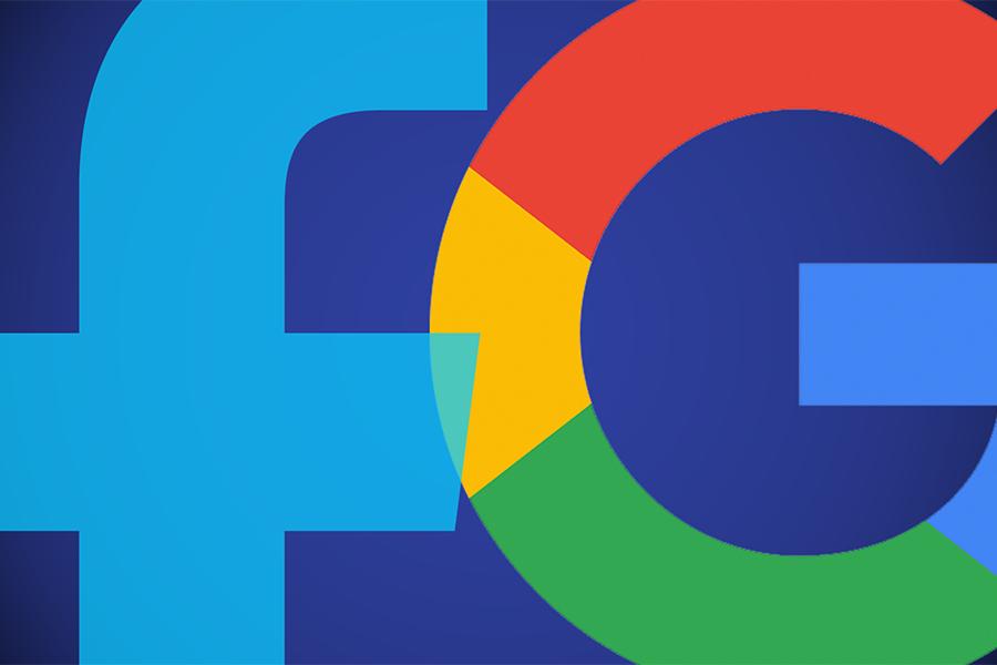 facebook and google logo