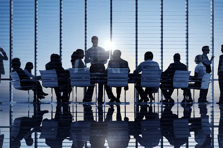 group of professionals in a meeting