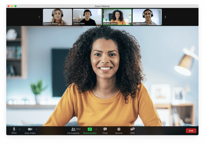 Zoom Video Webinar Conference Call