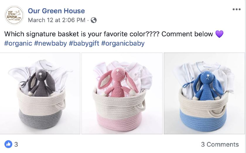 Screenshot of Our Green House Gift Basket