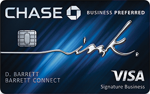 Chase Ink Business PreferredSM best business credit card for travel