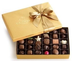 box of Godiva Chocolates