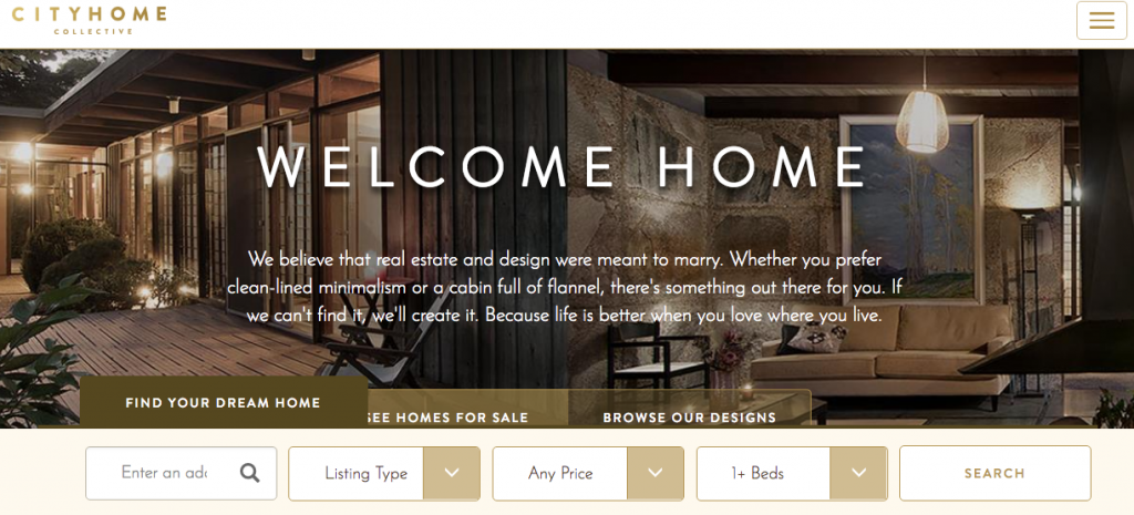 City Home Collective - best real estate agent websites