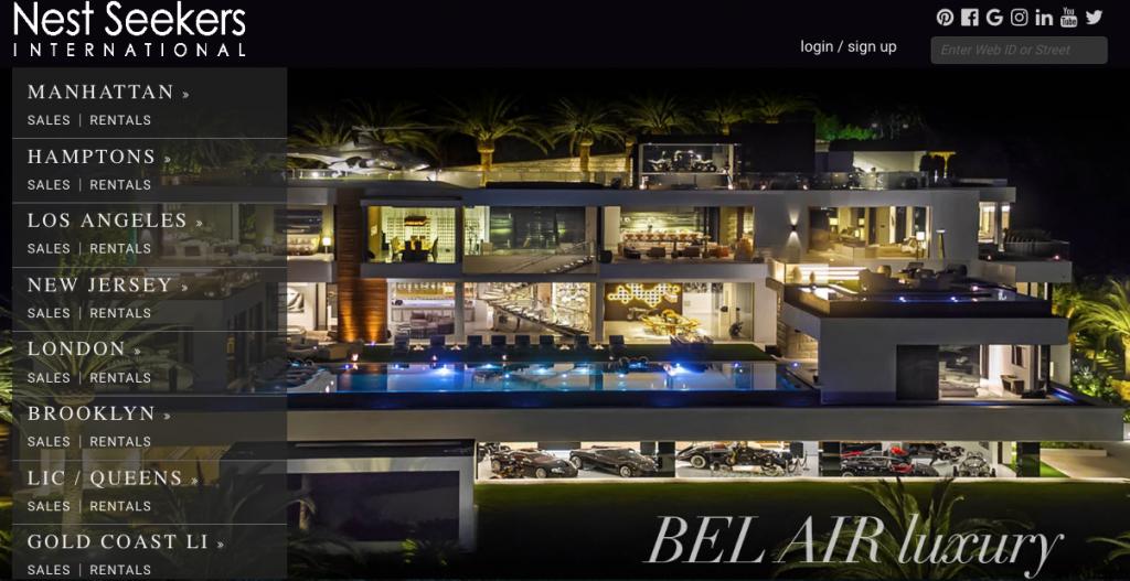 Nest Seekers International - best real estate agent websites