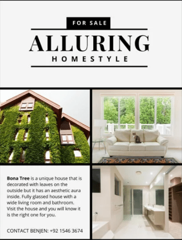 Alluring by Canva real estate flyer example