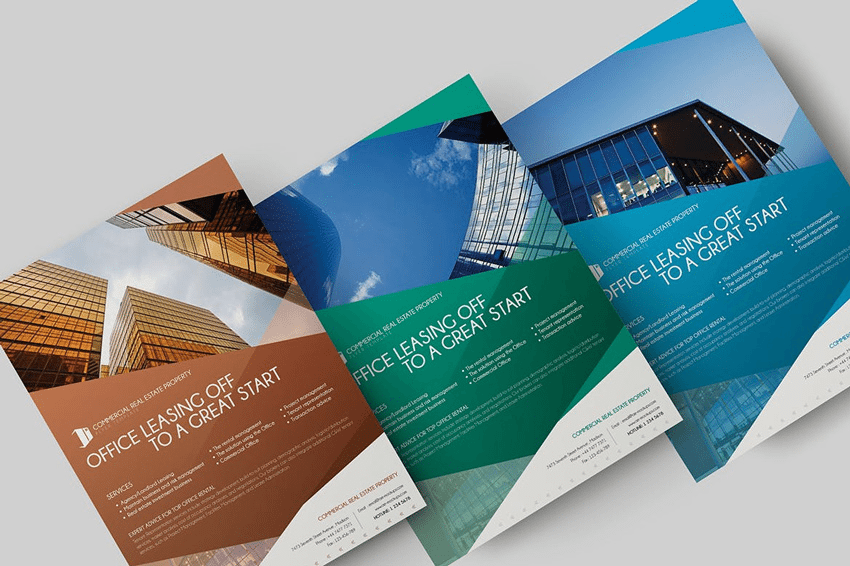 Adobe Photoshop real estate flyer template