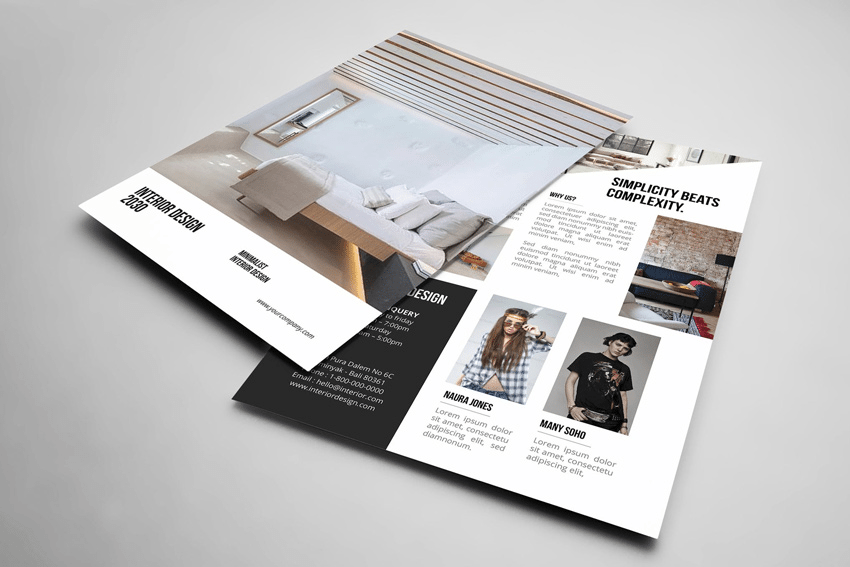 Adobe Photoshop real estate flyer template from Envato