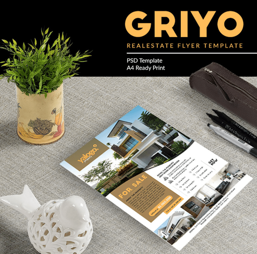 Griyo real Estate Flyer template