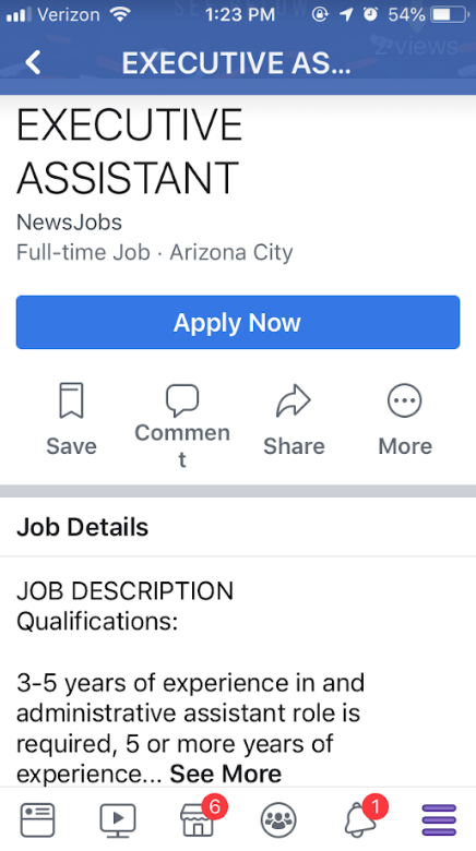 how to post a job on facebook
