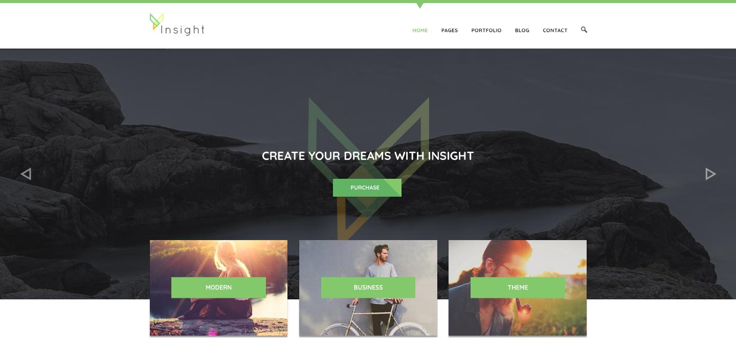 ThemeForest - Insight - best wordpress photography themes