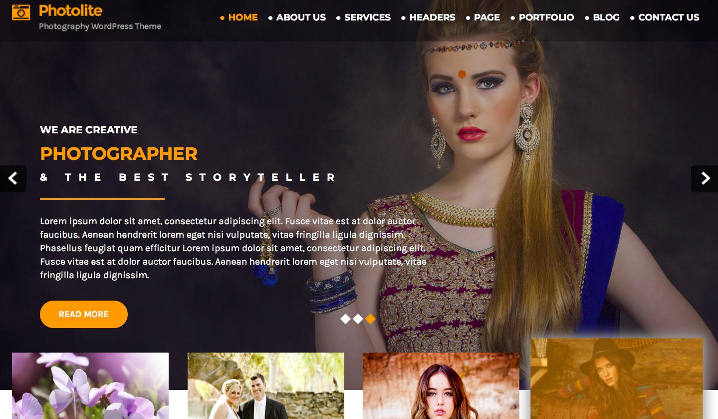 Flythemes - Photolite - best wordpress photography themes