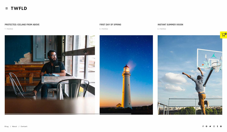 ThemeForest - TwoFold - best wordpress photography themes