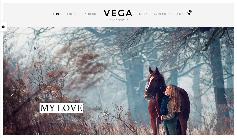 ThemeForest - Vega - best wordpress photography themes