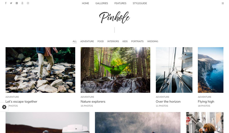 ThemeForest - Pinhole - best wordpress photography themes
