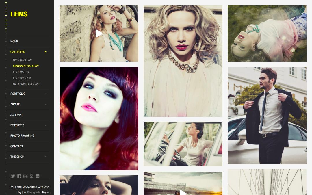ThemeForest - LENS - best wordpress photography themes